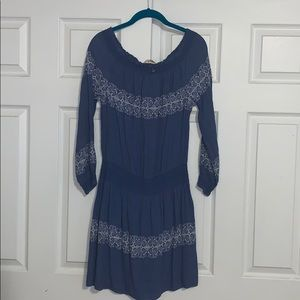 Tory Burch denim colored embroidered dress